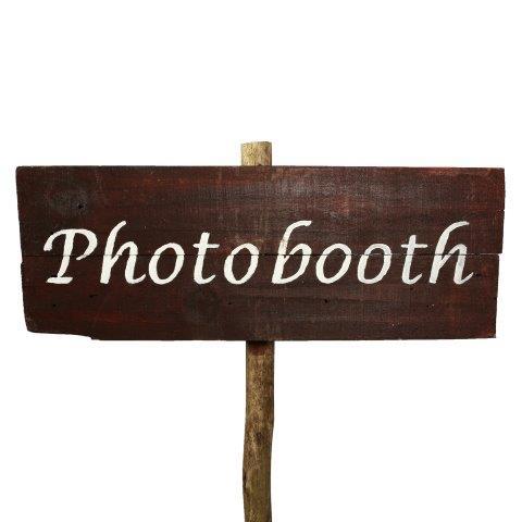 Sign Dark Wood Photobooth No Arrow