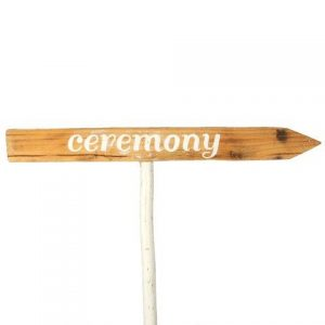 Sign Light Wood Ceremony White Right
