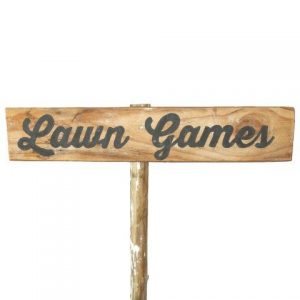 Sign Light Wood Lawn Games