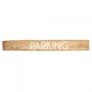 Sign Light Wood Parking White