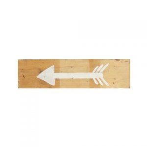Signs Light Wood Arrow White Left Facing
