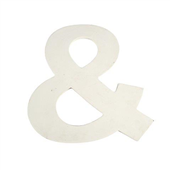 Signs White Wood Ampersand X large