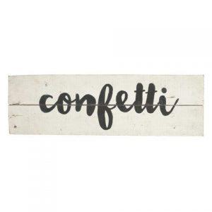 Signs White Wood Confetti