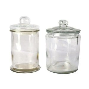 Sweetie Jar Clear Glass Round Large
