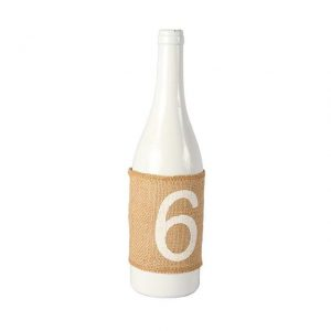 Table Numbers Hessian Sleeve