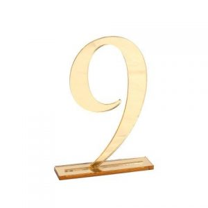 Table Numbers Perspex Gold Digits
