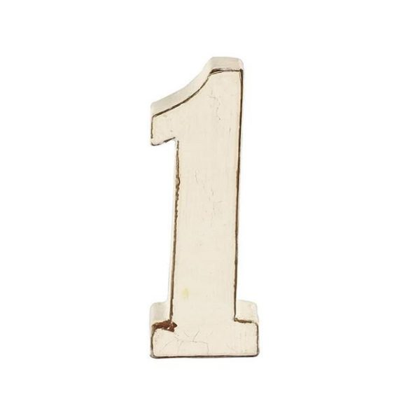 Table Numbers White Wash  cm