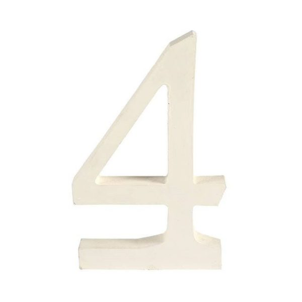 Table Numbers White Wood Digit  xm