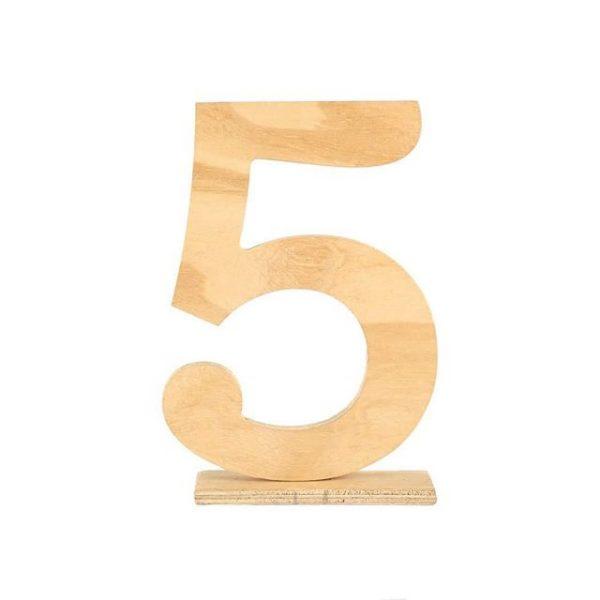 Table Numbers Wood Light Digit  cm