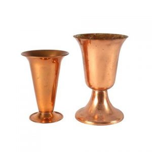 Vase Antique Copper Mixed Large My Pretty Vintage Décor Hire wedding coordinating Paarl