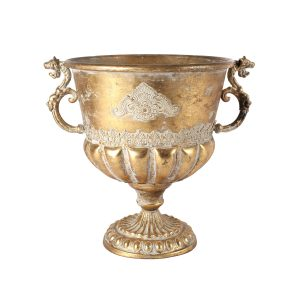 Vase Antiqued Gold Urn