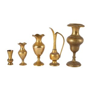 Vase Brass Single Flower Holder Mixed My Pretty Vintage Décor Hire wedding coordinating Paarl