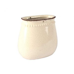 Vase Cream Oval Crackle My Pretty Vintage Décor Hire wedding coordinating Paarl