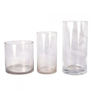 Vase Cylinder Glass Clear Medium My Pretty Vintage Décor Hire wedding coordinating Paarl