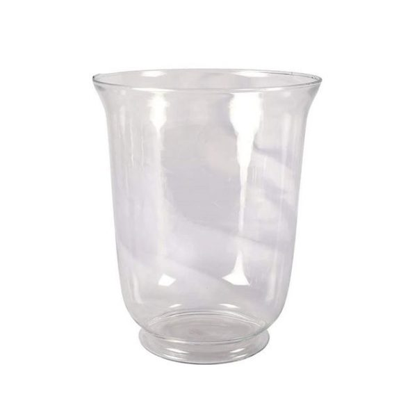 Vase Glass Clear Hurricane Footed X Large