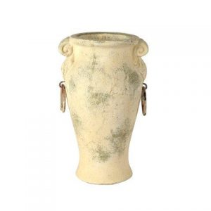 My Pretty Vintage Décor Hire wedding coordinating Paarl Vase Grecian Cream Urn with Handle