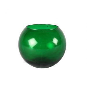 Vase Green Fish Bowl