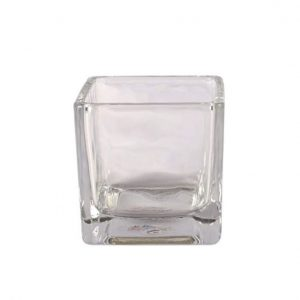 Vase Squares Clear Medium