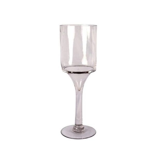 Vase Stemmed Glass Straight Medium