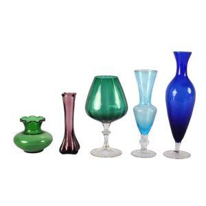Vase Vintage Coloured Mixed My Pretty Vintage Décor Hire wedding coordinating Paarl