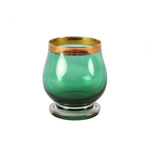 My Pretty Vintage Décor Hire wedding coordinating Paarl Vase green Gold Rim