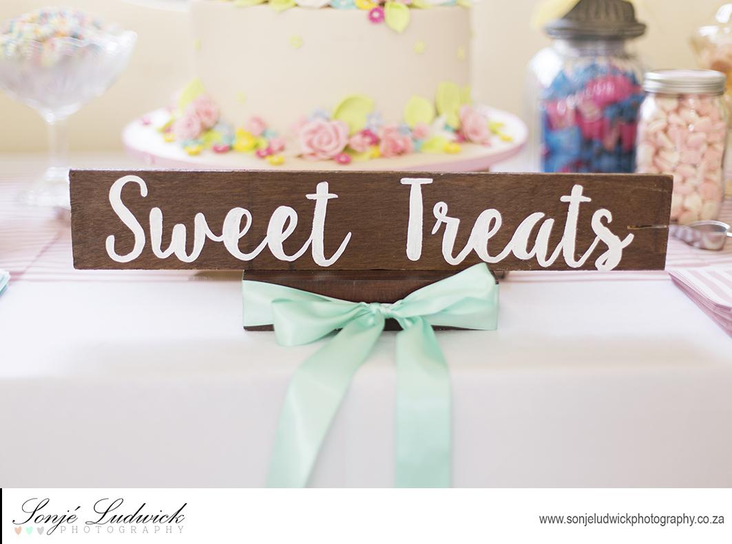 Vintage Brown Board Displaying Sweet Treats