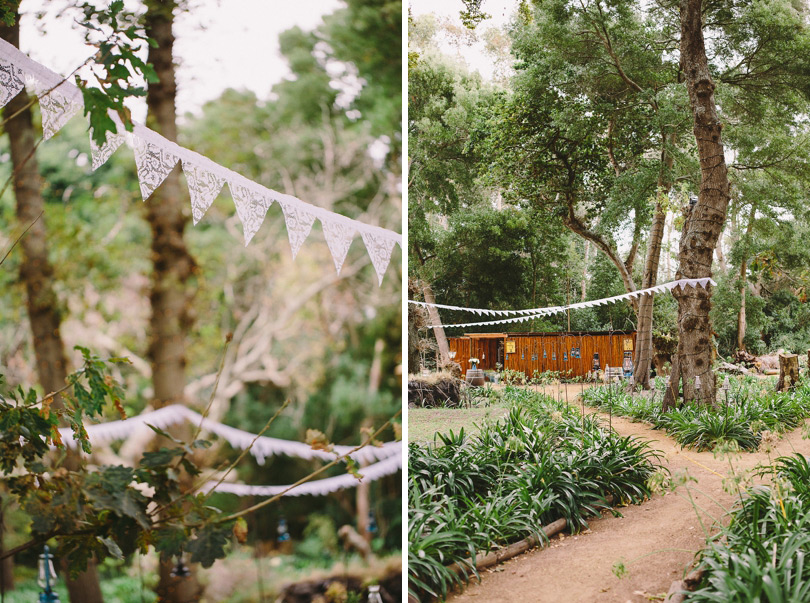 Vintage Bunting Outdoor Wedding