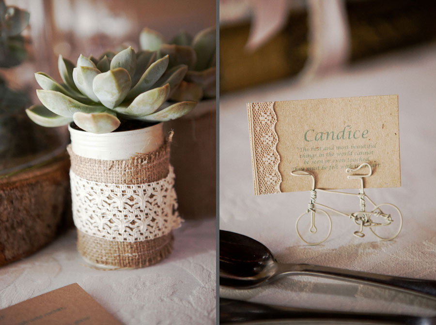 Vintage Hessian And Twine Lace Seating Cards
