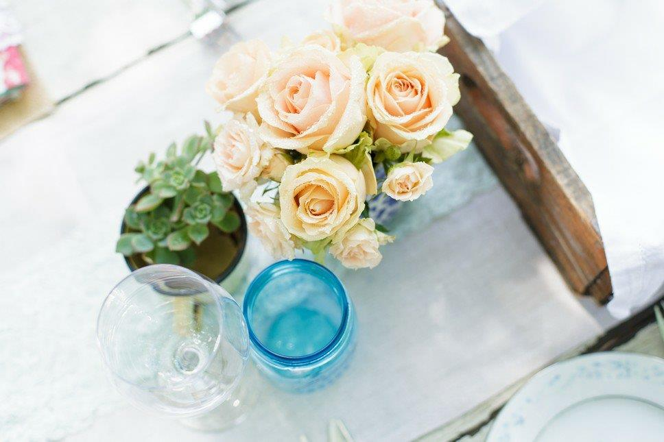 Vintage Rose Of Table Display