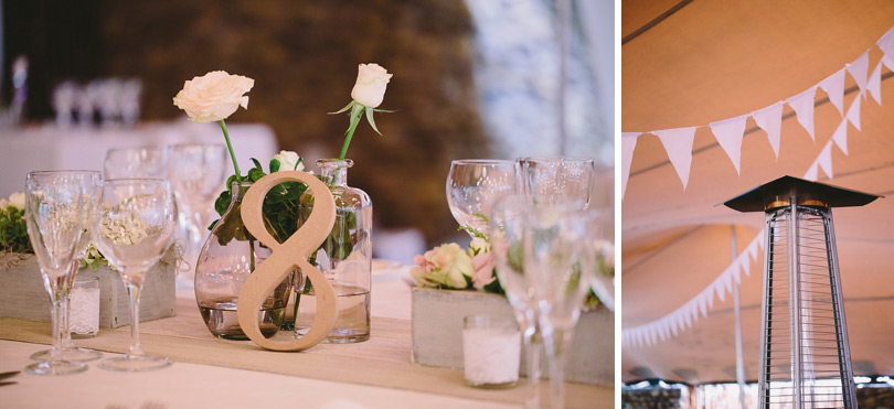 Vintage Table Numbers At Reception