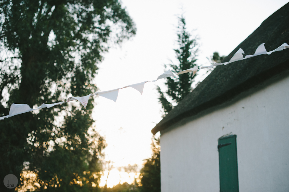 Vintage Wedding Bunting Sunset