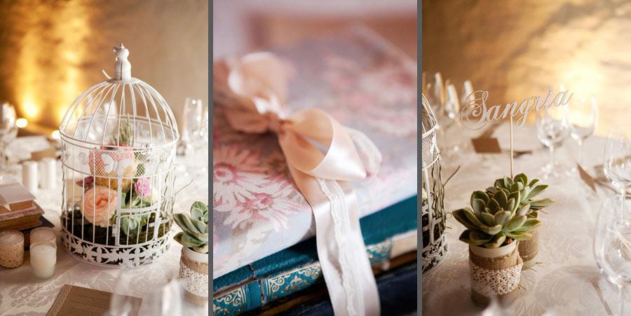 Vintage Wedding Decor Books Lace Birdcages