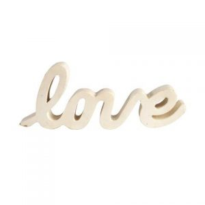 "WORDS ""LOVE"" White Cursive"