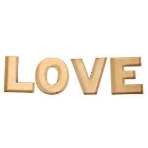 "WORDS ""Love"" Edged Wood"