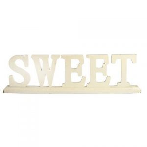 """WORDS """"SWEET"""" White Stand"""