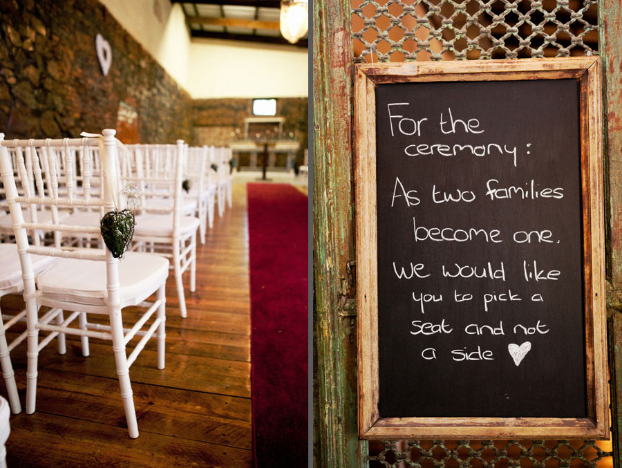 Wedding Chalboards For The Ceremony