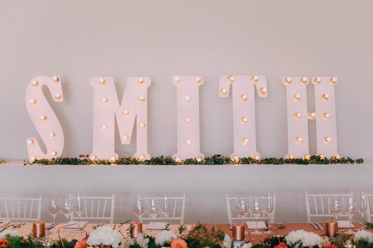Wedding Lights n Letters Bridal Surname