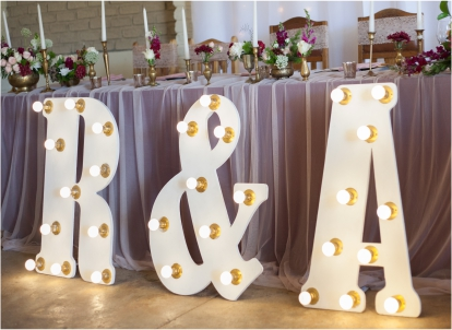 Wedding Love Lighting Initials