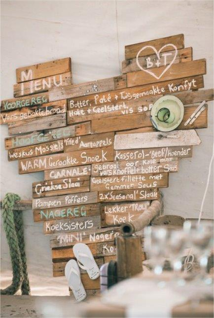 Wedding Wooden Pallet Menu Board