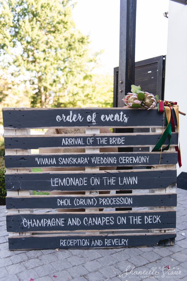 Weddings Order Of Event Signage