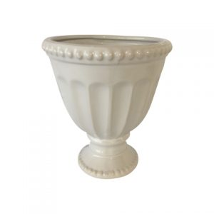 My Pretty Vintage Décor Hire wedding coordinating Paarl White Ceramic Urncm