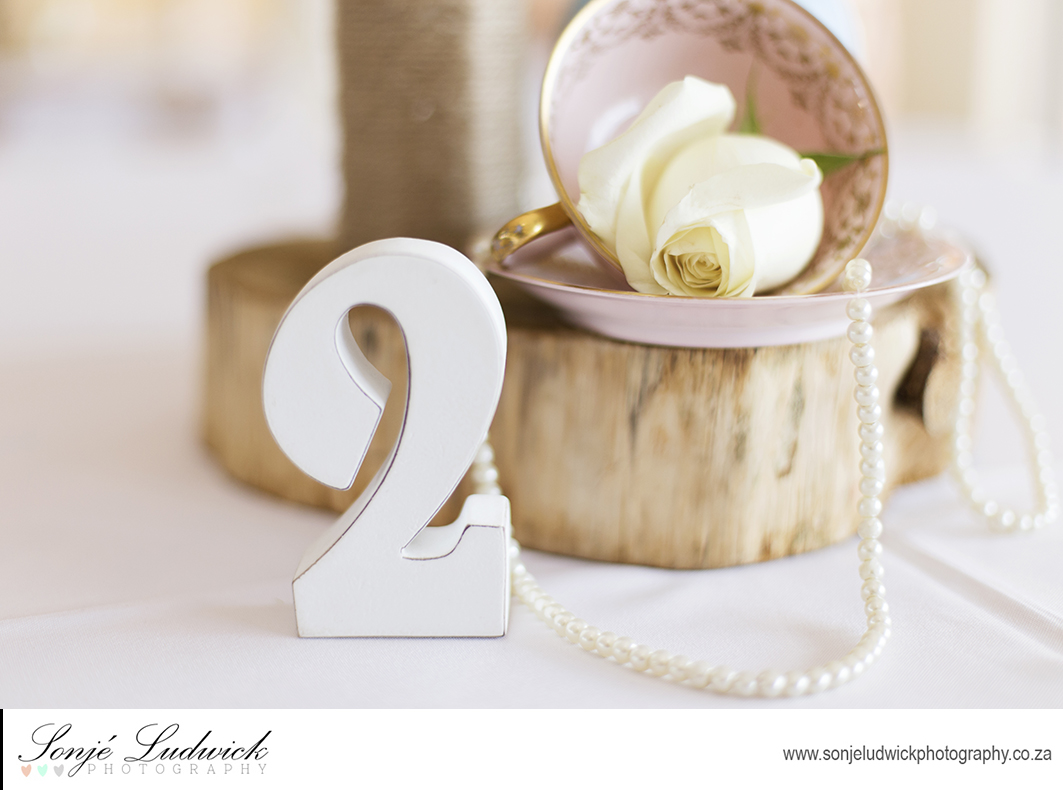 White Wooden Wedding Numbers for Seating Arrangements