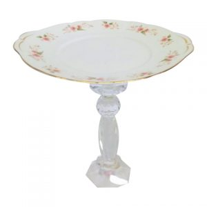 Cake Stand Tier Dainty Blush Pink Crystal
