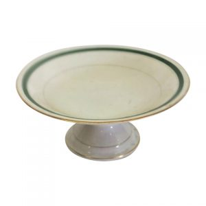 Cake Stand Tier Green Line Bowl