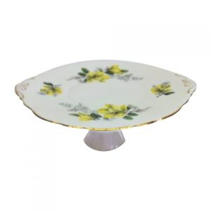 Cake Stand Tier Yellow Floral with Green