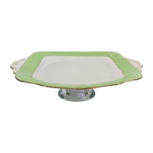 Cake Stand Flat Green Square