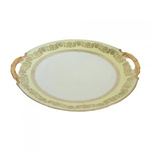 Cake Stand Flat Yellow Gold Handles