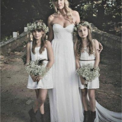 Floral Design Boho Country Bride And Flowergirls