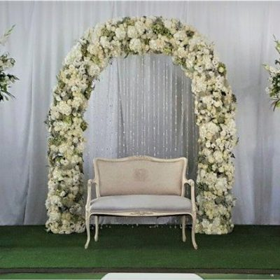 Floral Design Floral Rose Arch And Classic Urns