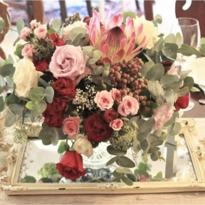 Floral Design Mirror Wedding Flower Centerpieces